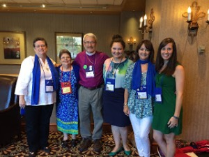 The ECW Delegates and Bishop Waldo with Regina at the Distinguished Woman Awards Luncheon