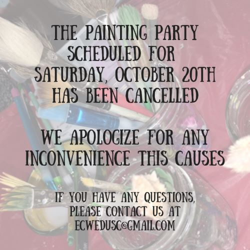 Painting Party Cancelled